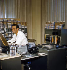 Bob Gordon at Studio A Console June 10, 1961