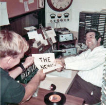 Johnny Knox and Dorsie in air studio 1967