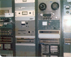 WQAM Production Room Equipment Racks 1975