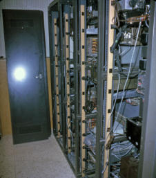 Rear view of equipment racks March 25, 1966