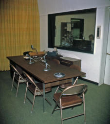 WQAM multiphone desk in Talk Studio March 25, 1966