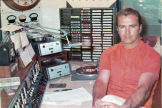 Dan Chandler in air studio June 1969