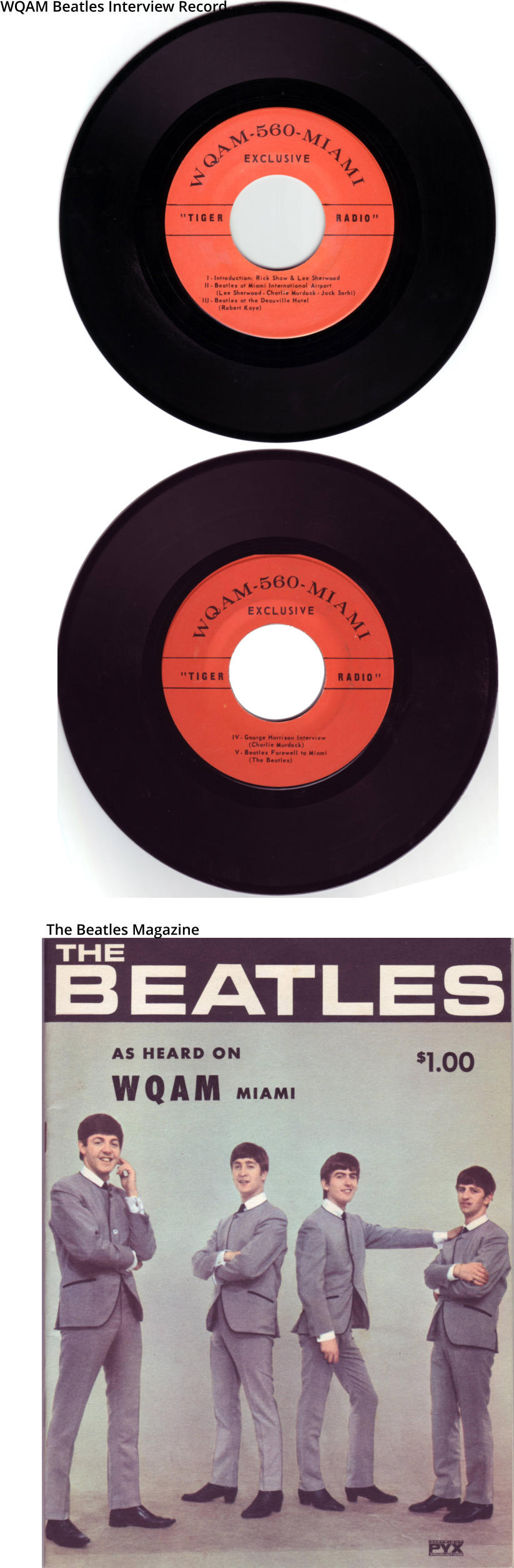 WQAM Beatles Interview Record The Beatles Magazine