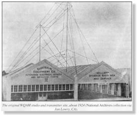 WQAM's original 1924 studio and transmitter site